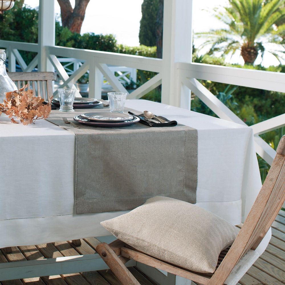 linen runners hand table product made